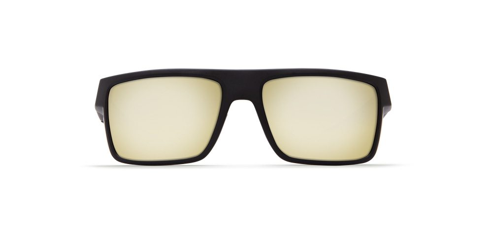 Costa Del Mar Motu Sunglasses 580P Blackout Frame W// Silver Sunrise Lens