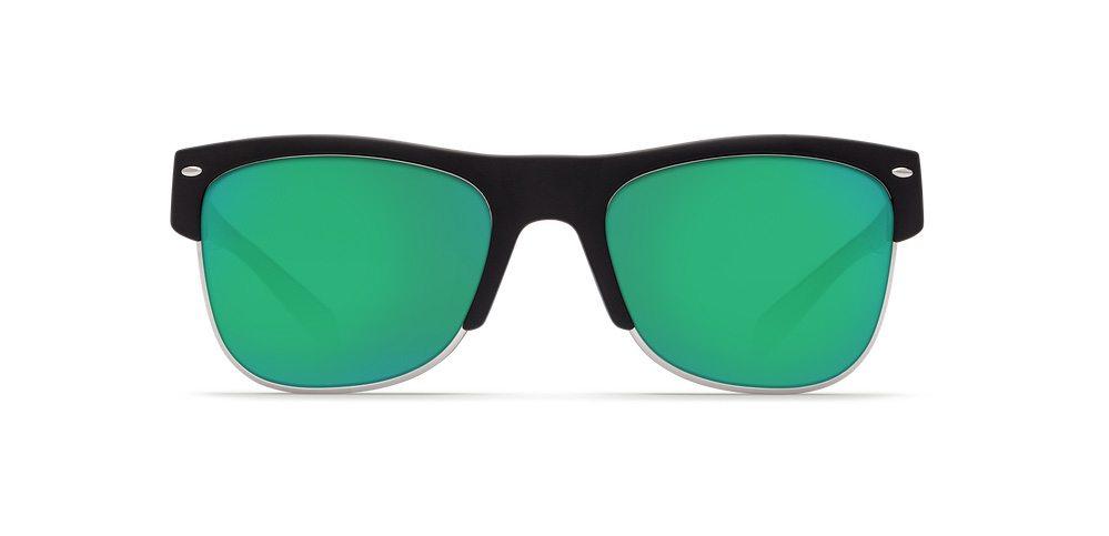 2874b6fc89cc Costa Del Mar Pawleys PW11 Matte Black Green Mirror Lens Sunglasses ...