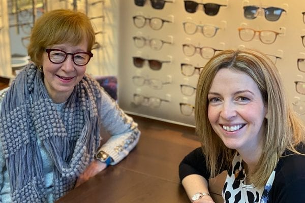 Lesley and new Optometrist, Jennifer Capozio