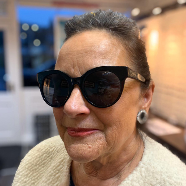 Sue in Jimmy Choo Sunnies